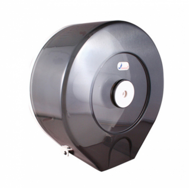 大捲筒衛生紙架-圓形透明黑