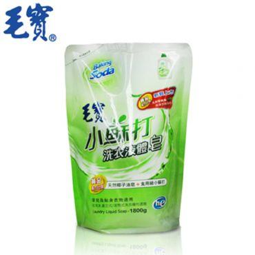 毛寶 小蘇打洗衣液體皂補充包1800g