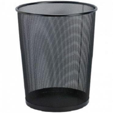 黑拉網圓形垃圾桶 (特大)  29.5 x 36 (cm)