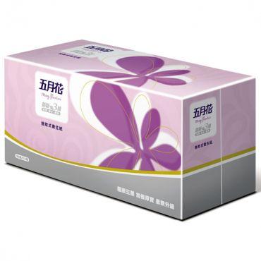 【五月花】三層抽取式衛生紙90抽x10包x6袋
