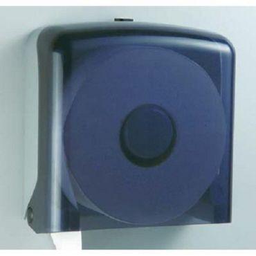 大捲筒衛生紙架-方型透明黑