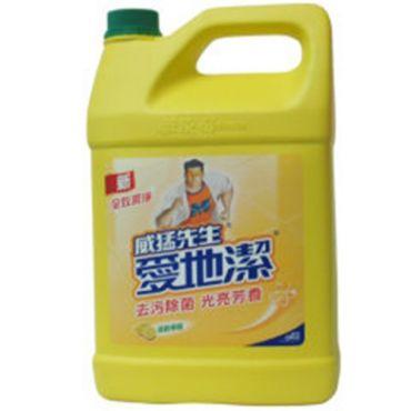 愛地潔 威猛先生地板清潔劑-檸檬1加侖