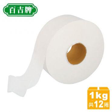 百吉牌 滿柔環保大捲筒衛生紙1kg*12捲