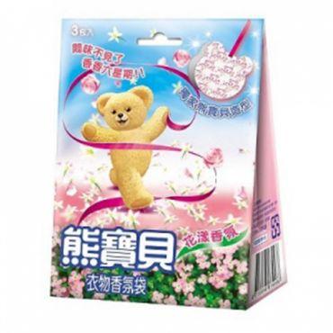 《熊寶貝》 衣物香氛袋-花漾香氛 (3片)
