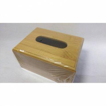 多功能 竹製小餐巾盒
