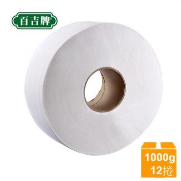 百吉大捲衛生紙 1000gX12捲/箱