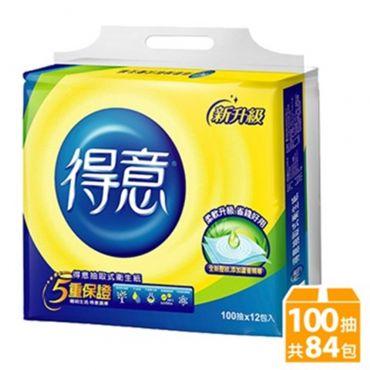 得意極韌抽取式衛生紙(100抽x84包) 添加蘆薈精華