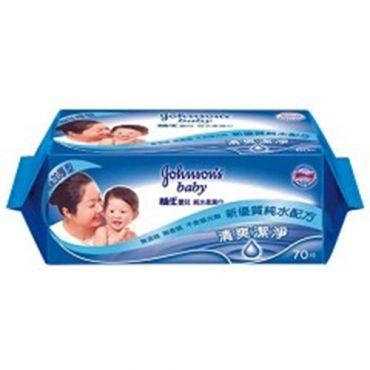 嬌生 嬰兒純水柔濕巾 加厚型 70片x3包
